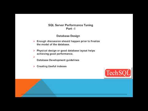 SQL Server Performance Tuning - I
