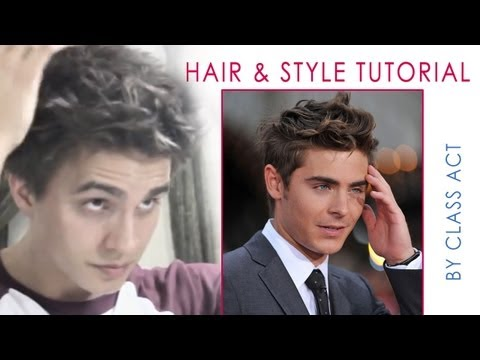 ZAC EFRON HAIR & STYLE / BED HEAD HAIRSTYLE