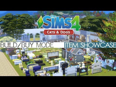 The Sims 4 Cats & Dogs - BUILD/BUY MODE ITEM SHOWCASE
