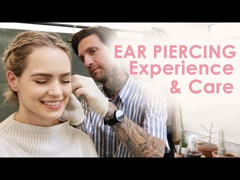 My Ear Piercing Experience, Pain, & Care (Faux Rook & High Lobe) - KayleyMelissa