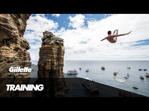 100% Focus - Cliff Diving with Jonathan Paredes | Gillette World Sport
