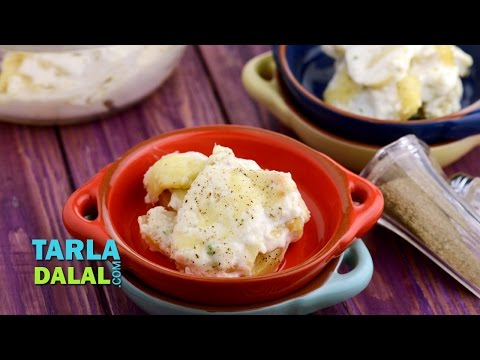 Potato in Cottage Cheese Sauce (Papas a la Huanciana) by Tarla Dalal