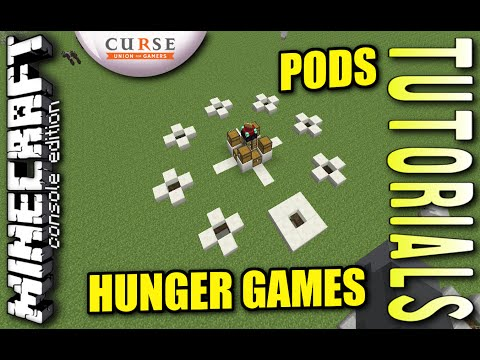 MINECRAFT - PS4 - HUNGER GAMES PODS - HOW TO - TUTORIAL ( PS3 / XBOX / PC / VITA )  UPDATE WII
