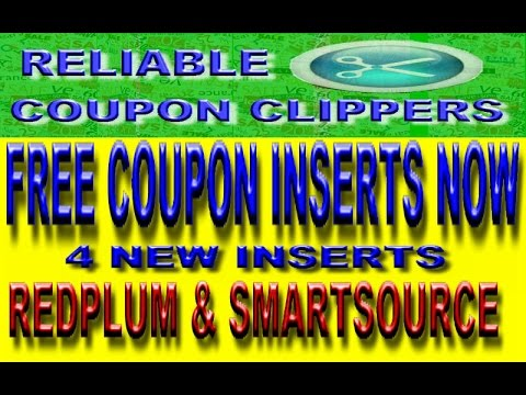 FREE BULK COUPON INSERTS ( 4 INSERTS THIS WEEK ) EXTREME COUPONING SMARTSOURCE REPLUM