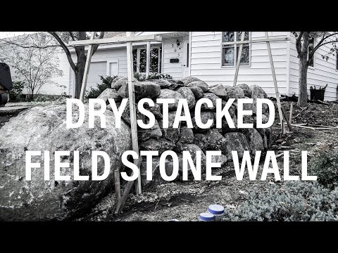dry stacked field stone wall
