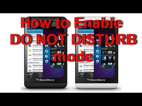 BlackBerry Z10 - How to Enable Do Not Disturb Mode Or Night Mode