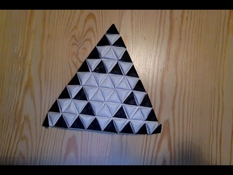 Sierpinski Triangle as Origami Tessellation
