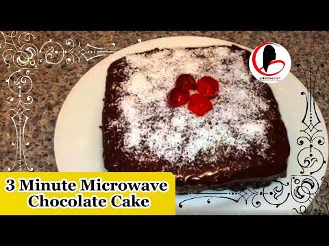 3 Minute Microwave Chocolate Cake