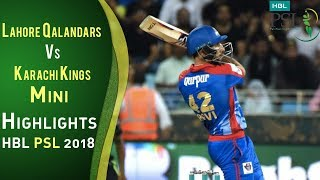 Short Highlights | Karachi Kings Vs Lahore Qalandars  | Match 8 | 26 February | HBL PSL 2018 | PSL