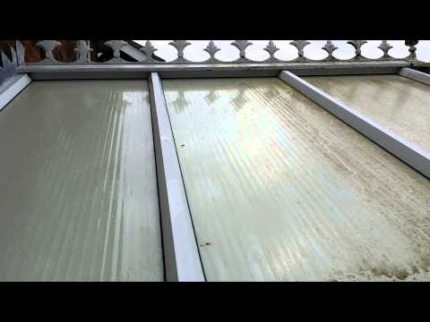 Cleaning a conservatory roof part 1