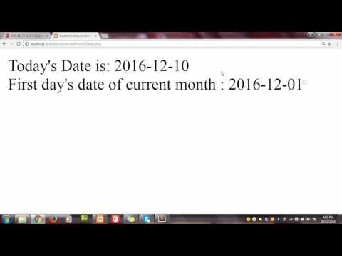How to get first and last date of current month in PHP
