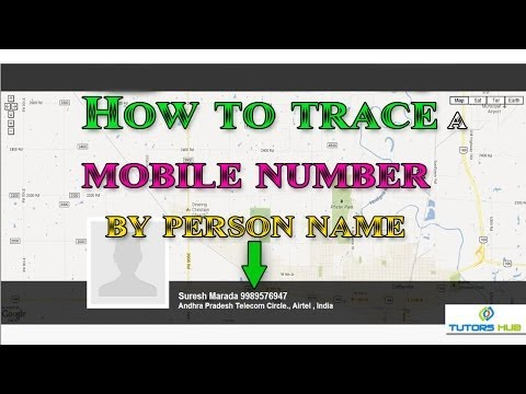 How to trace a mobile number by person name