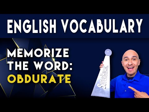 📖 How to Learn English Vocabulary Word - Obdurate | Memorize College Vocab Fast | SAT Study Skills