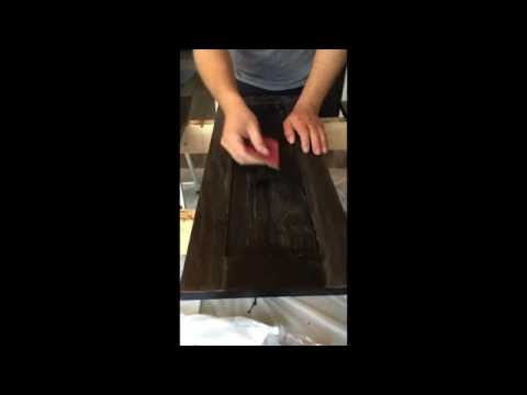 How to Finish Cabinet Doors, Part 3: Get perfectly finished wood stained doors