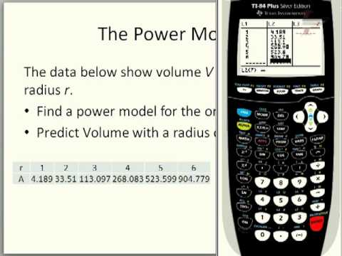 Power Regression on the TI-84