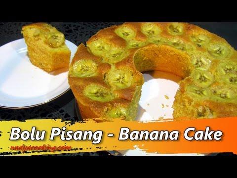 Resep dan Cara Membuat Kue Bolu Pisang |  Banana Cake Recipe