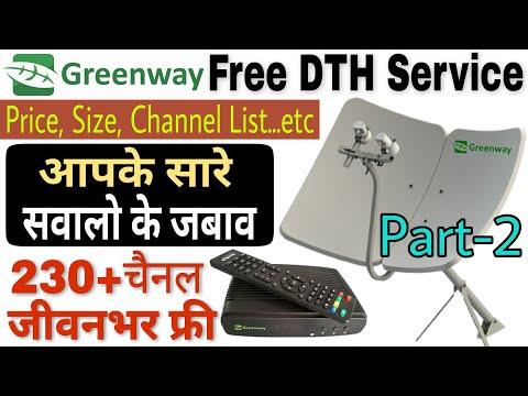 Greenway Free DTH Service | Part-2 | Greenway Free TV | Dual Lnb Horizontal dish annetina