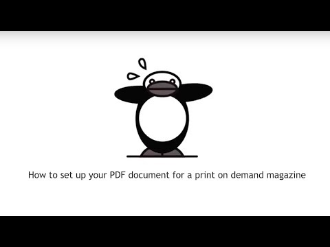 How to set up your PDF document for a print on demand book or magazine