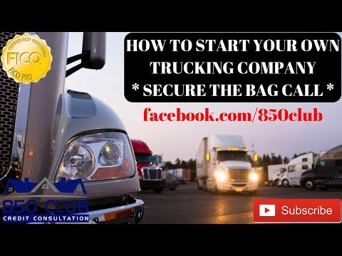 How To Start Your Own Trucking Company - Secure The Bag Interview FB Live