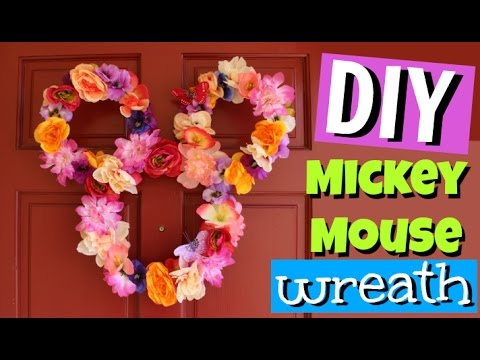 DIY Mickey Mouse Spring Wreath   Pinterest inspired