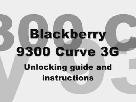 How to INSTANTLY unlock Blackberry 9300 Curve 3G Bell Telus T-Mobile Koodo Cingular AT&T Rogers