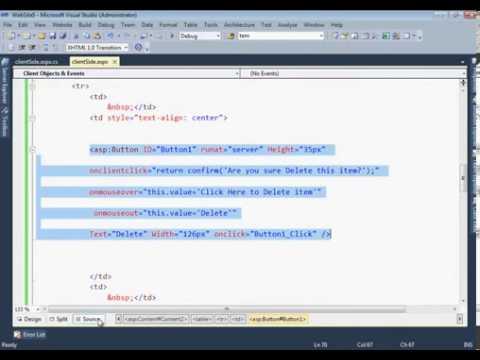 ASP.NET Client Side Script Code