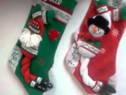 Scandinavian Santa Personalized Christmas Stocking