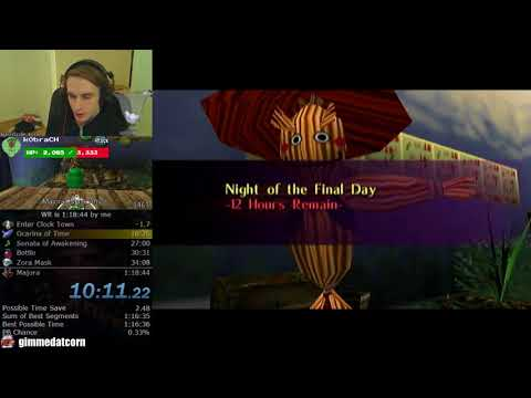 The Legend of Zelda: Majora's Mask Any% Speedrun (1:18:18)
