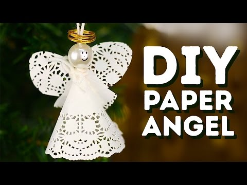 DIY paper angels to put on your Christmas tree l 5-MINUTE CRAFTS