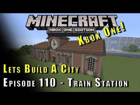 Minecraft :: Lets Build A City :: Train Station :: E110