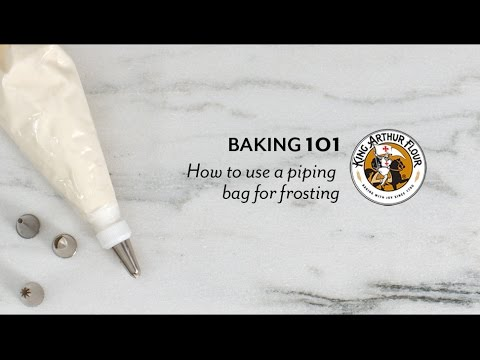 How to use a piping bag for frosting