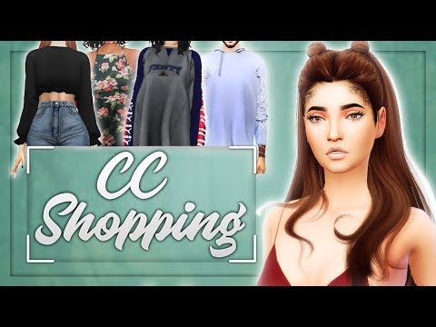 The Sims 4: CC Shopping #2 // 50+ ITEMS - Hair, Pets, Clothing, Makeup & MORE {W/ FACECAM}