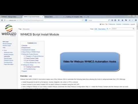 webuzo whmcs hook