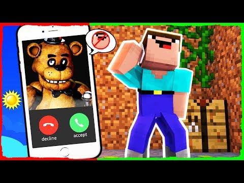 Minecraft FNAF - How to Call FREDDY FAZBEAR on FACETIME