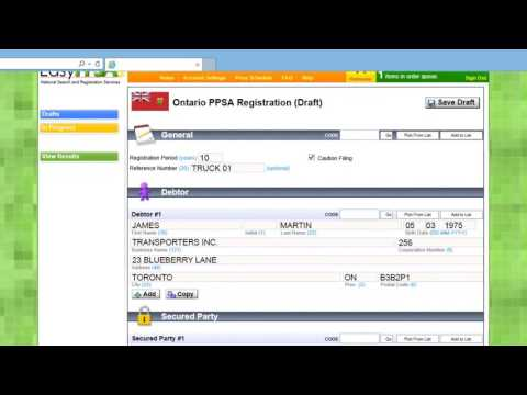 EasyPPSA - PPSA Registration