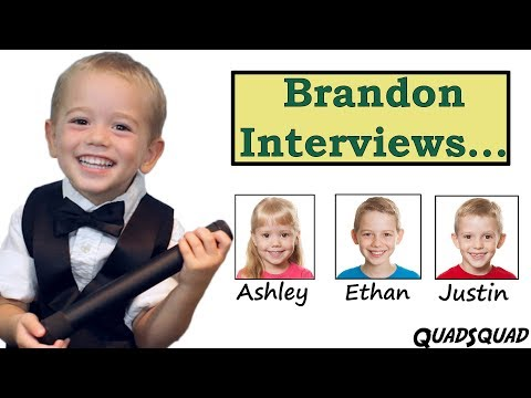 Brandon Interviews the QuadSquad - Cute Kid Interview