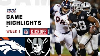 Broncos vs. Raiders Week 1 Highlights | NFL 2019