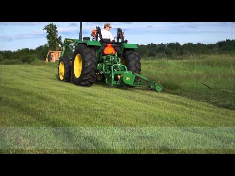 Hay Cutting with John Deere 5055e / 350 Sickle Mower