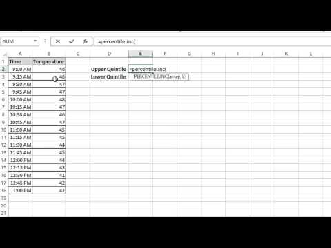How to Find Upper & Lower Quintiles in Excel : MS Excel Tips