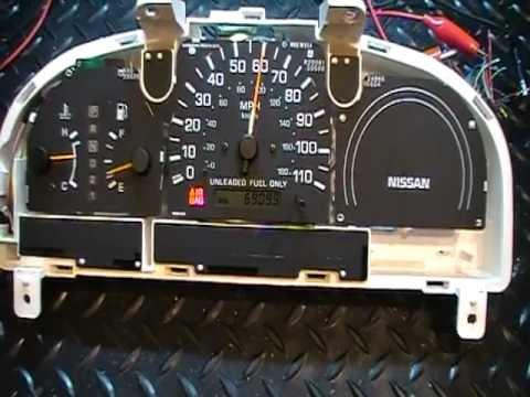 98 99 Nissan Frontier Instrument Gauge Cluster Bench Test - Problem Information