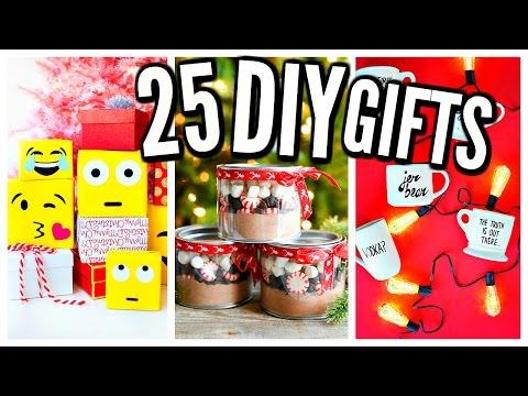 25 DIY Christmas Gifts! Homemade Gift Ideas!