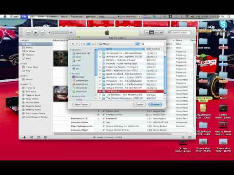 how to import music into itunes