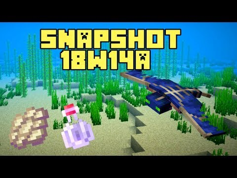 New Minecraft 1.13 Snapshot 18w14a Phantom Membrane, Slow Falling Potion and Trident Riptide Changes