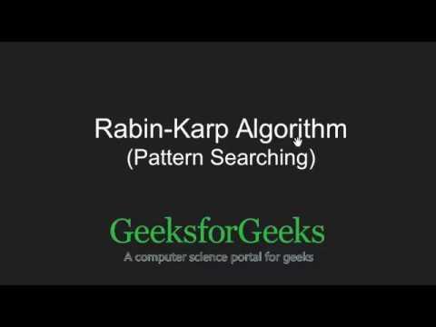 Rabin-Karp Algorithm | Searching for Patterns | GeeksforGeeks