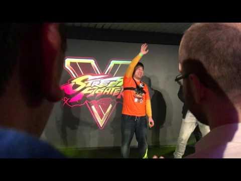 """Yoshinori Ono beim """"Street Fighter V Launch Event"""" in Hamburg"""
