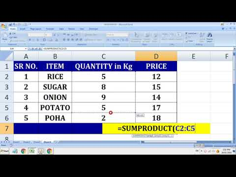 Excel SUMPRODUCT Formula