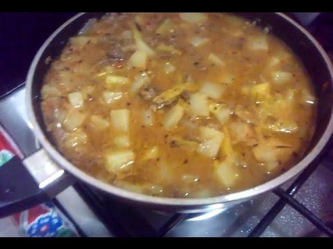-Bistec con papas en salsa de chile güerito | receta fácil |