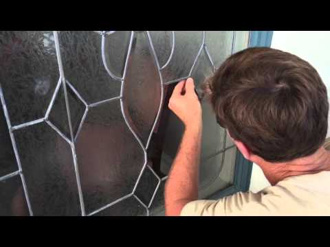 How to repair leaded glass window