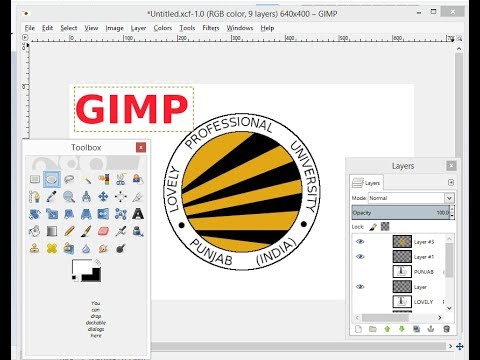 GIMP Tutorial-Design LPU logo