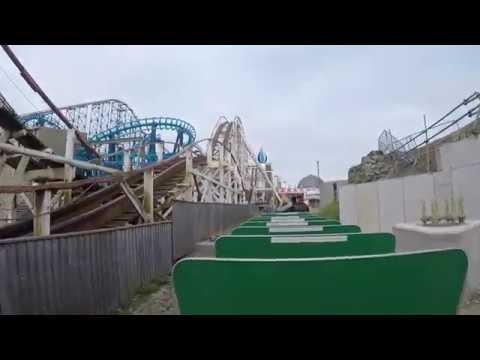 Pleasure Beach Express POV Blackpool Pleasure Beach April 2017 60fps